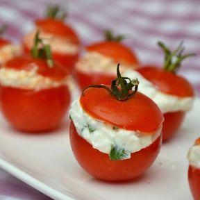 Tomates cerise farcies à la feta