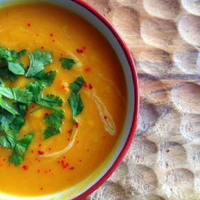 La soupe thaï potimarron-lentilles de corail
