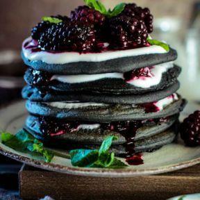 Les pancakes au charbon