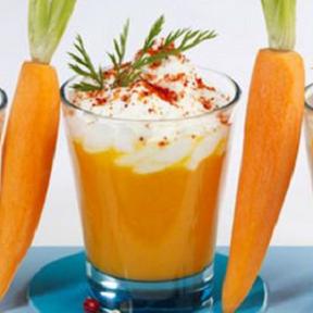 Verrine Cappucino de carottes