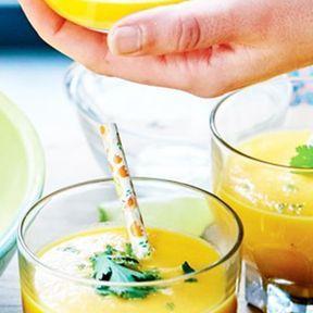 Soupe froide de carottes et coco