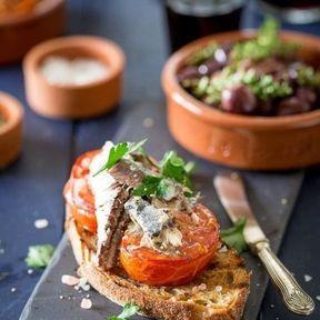 Tartine sardines et tomates