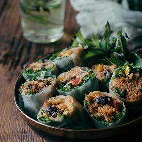 Rouleaux de printemps au quinoa et légumes