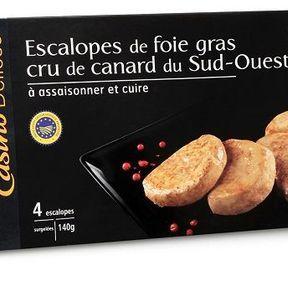 Escalopes de foie gras cru à poêler, Casino Délices