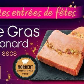 Foie gras de canard aux fruits secs, Leader Price