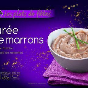 Purée de marrons à la crème fraîche, Leader Price