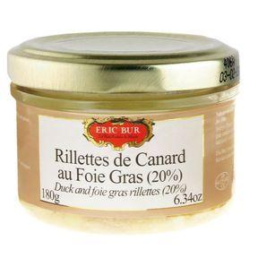 Rillettes de canard au foie gras, Eric Bur