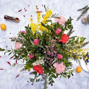 Bouquet de fleurs comestibles spécial saint valentin, Fleurivore -Nouveauté 2019