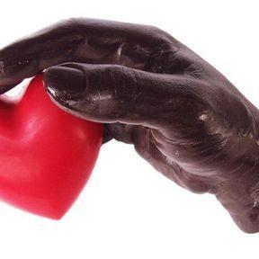 Le coeur sur la main, en chocolat
