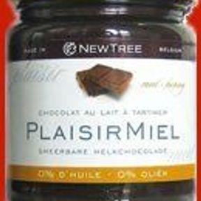 Plaisir à tartiner Chocolat au lait et miel ou chocolat noir - Newtree