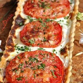 Tarte poireaux, tomates et ricotta