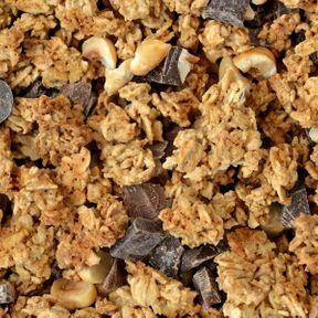 Recette Granola fruits secs chocolat