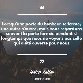 Citation d'Helen Keller