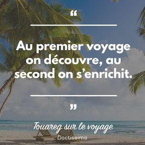 Proverbe touareg sur le voyage