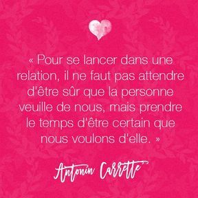 Citation amour d'Antonin Carrette