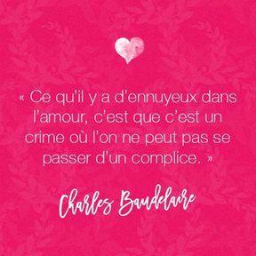 Citation amour de Charles Baudelaire