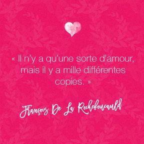Citation amour de François De La Rochefoucauld