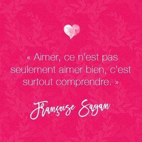 Citation amour de Françoise Sagan