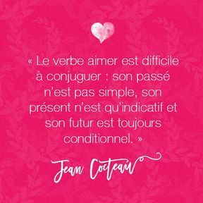 Citation amour de Jean Cocteau