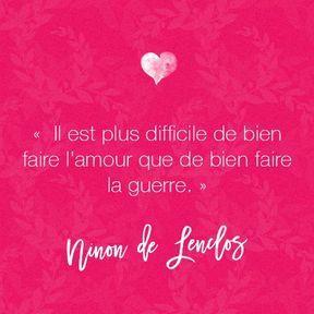 Citation amour de Ninon de Lenclos