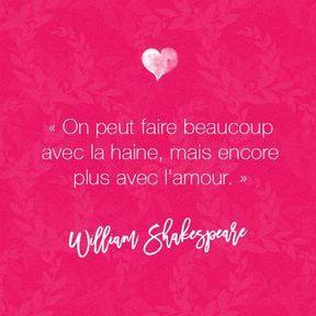 Citation amour de William Shakespeare