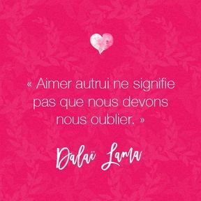 Citation amour du Dalaï Lama