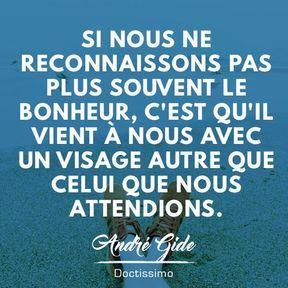 Citation bonheur d'André Gide