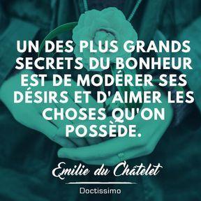 Citation bonheur d'Emilie du Châtelet