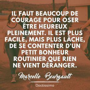 Citation bonheur de Marcelle Bourgault