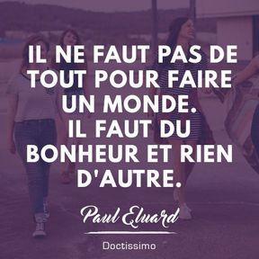 Citation bonheur de Paul Eluard