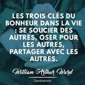 Citation bonheur de William Arthur Ward
