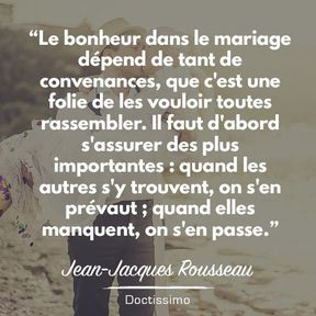 Citation Mariage De Jean Jacques Rousseau 30 Citations Sur