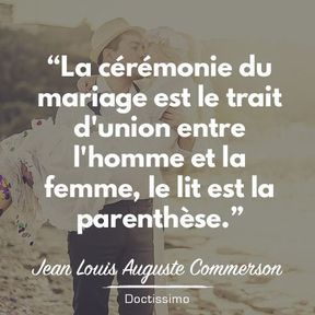 Citation mariage de Jean Louis Auguste Commerson