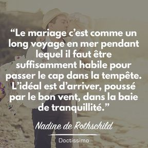 Citation mariage de Nadine de Rothschild