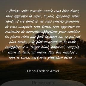 Citation d' Henri-Frédéric Amiel