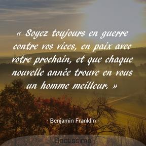 Citation de Benjamin Franklin