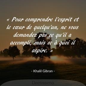 Citation de Khalil Gibran