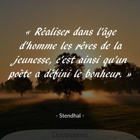 Citation de Stendhal