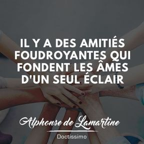 Citation amitié de Alphonse de Lamartine