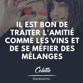 Citation amitié de Colette