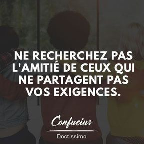 Citation amitié de Confucius