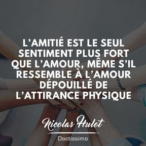 citation amour et amitie