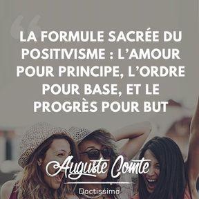 Citation positive d'Auguste Comte