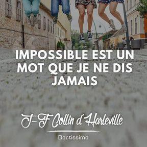 Citation positive de J-F Collin d'Harleville