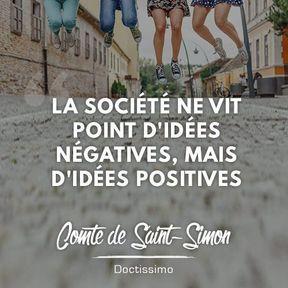 Citation positive du Comte de Saint-Simon