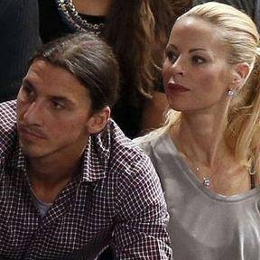 Zlatan Ibrahimovic et Helena Seger (11 ans d'écart)