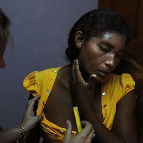 Nicaragua : femme après coups