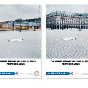 """""""On meurt encore du SIDA à Paris. Protégez-vous. """""""
