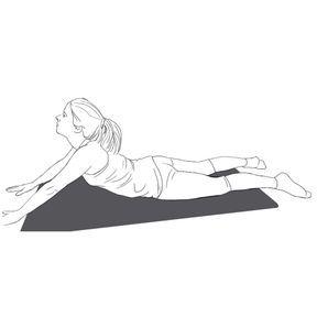 Respiration abdominale bras tendus