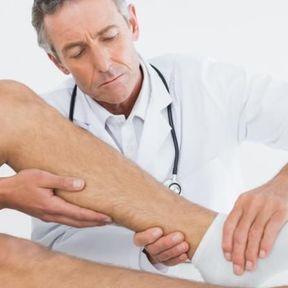 Pression de la peau au niveau de la cheville
